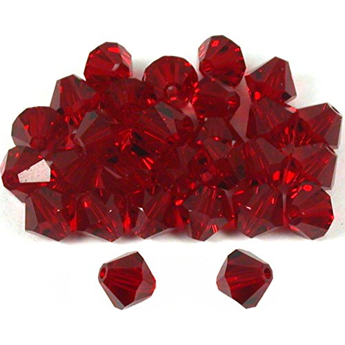 30 Garnet Bicone Swarovski Crystal Beads Part 5301 - Beads Parts Crystal Swarovski