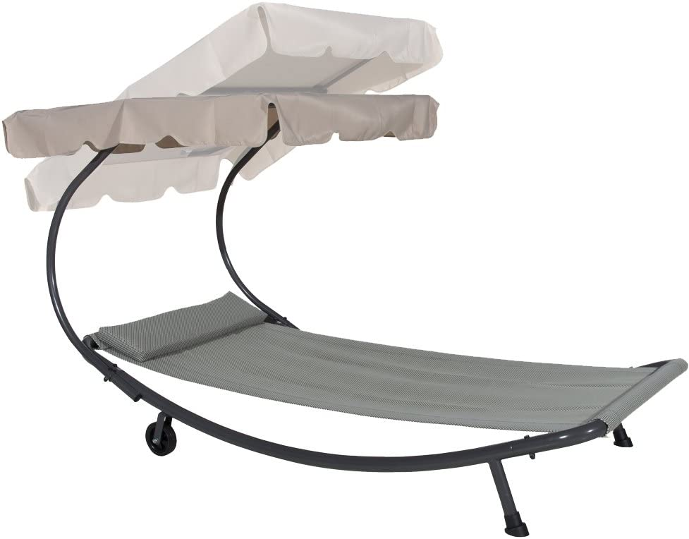 Abba Patio Portable Single Hammock Bed - 250 lb Weight Capacity