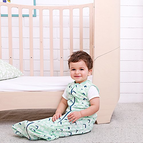 Ergo Pouch 0.2 TOG Jersey Sleeping Bag (8-24 Months, fits 17-30 lbs) Mountains. Stretchy Organic Cotton Wearable Blanket Sleeping Bag. 2 Way Zipper for Easy Diaper Changes by Ergo Pouch