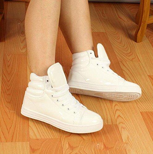 Plus Shoe Top Waterproof White High Women Sport Sneaker Size Dance Gaorui New Rain Men Shiny Boot wBOO40