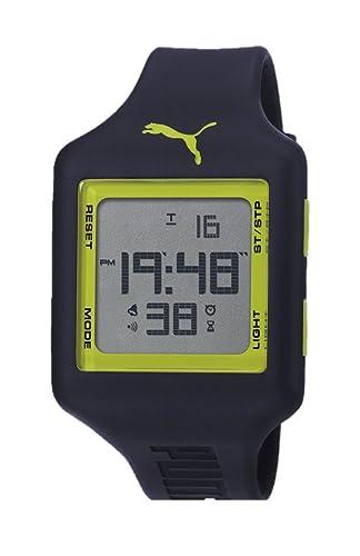 Puma Slide L - Reloj digital con correa de poliuretano unisex, color azul y verde/LCD: Amazon.es: Relojes
