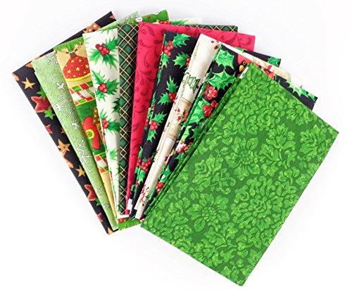 Assorted Christmas Fat Quarters 10 (Christmas Fabric)