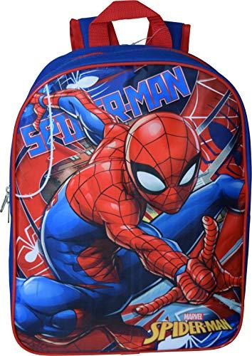 """Marvel Spiderman 15"""" School Bag Backpack (Blue-Red)"""