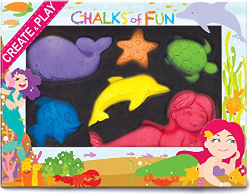 The Piggy Story Chalks of Fun 'Magical Mermaids' 6-piece Shaped Colored Chalk (Shaped Chalk)