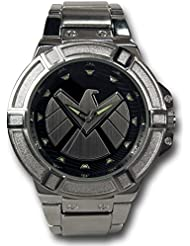 Marvel SHIELD Silver Watch with Metal Band