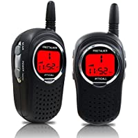 STOTOY Kids Walkie Talkies Rechargeable 22 Channel FRS VOX 2 Way Radio 6KM for Radio Kids (1 Pair)