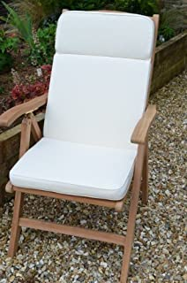 Garden Recliner Chair Cushion - Superior Quality - Natural