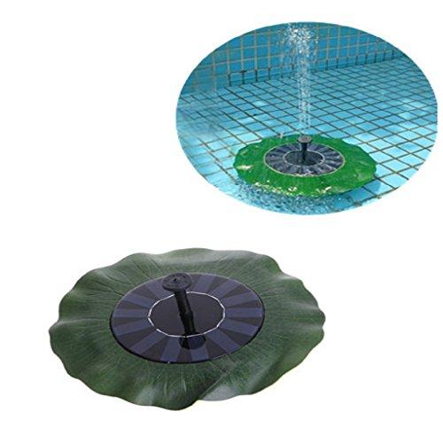 Onpiece Solar Fountains Pump for Bird Bath, Simulation Lotus Leaf Outdoor Water Pond Fountain Pump by Onpiece