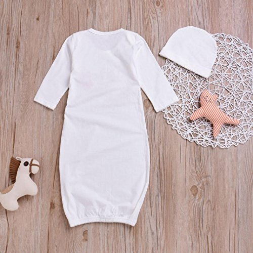 Moonker Cute Pajamas Newborn Infant Baby Girls Boys Embroidery Letter Flower Swaddle Outfits Set