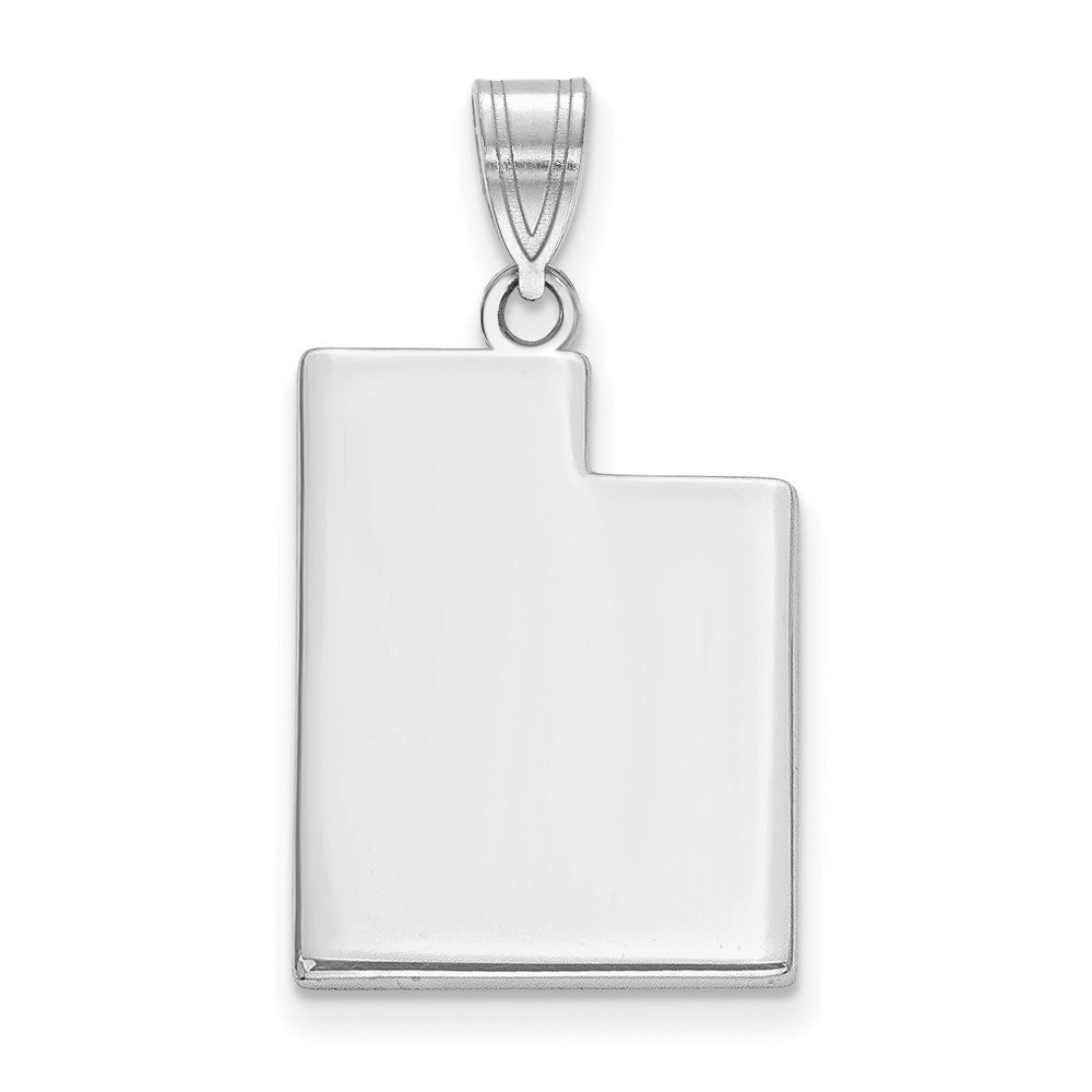 FB Jewels 14k White Gold AK State Pendant Bail Only