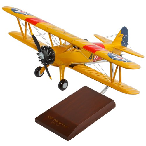 Yellow Biplane - Mastercraft Collection Boeing N2S-2/3/4 Stearman Yellow Peril Model Scale:1/24