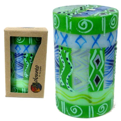 - Global Crafts Single Boxed Hand-Painted Pillar Candle - Farih Design - Nobunto Candles