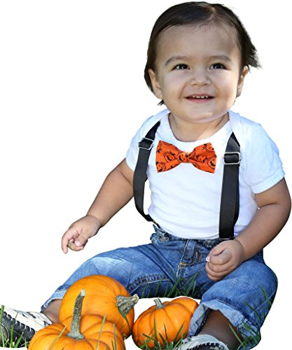 Nerd Costumes With Jeans (Noah's Boytique Halloween Pumpkin Jack O Lantern Bow Tie Outfit Baby Boy Costume 12-18 Months)