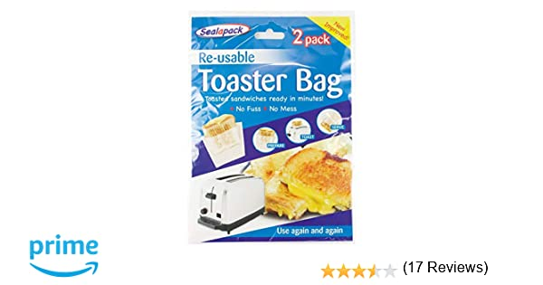 Sealapack Re-usable Toaster Bags Pack 2 Toasted Sandwiches Ready ...
