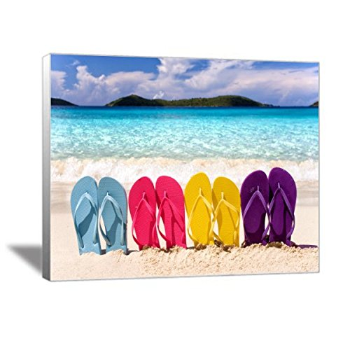 Beach Flip Flops Canvas Art
