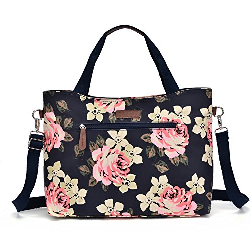15.6 inch Fashion Lightweight Laptop Tote Bag for Women with Shoulder Strap, Chic Laptop Tote Bag with Zipper for Ladies, Laptop Suitcase Purse for Women Work (Deep ()
