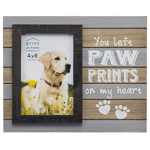 "Prinz 4x6"" ""You Left Paw Prints on My Heart"" Pet Frame"