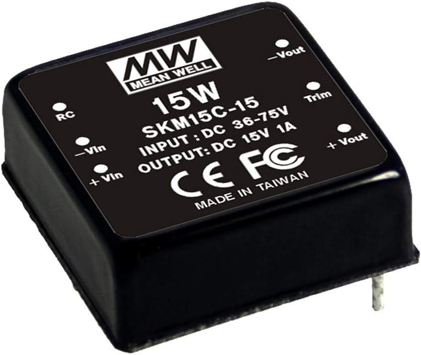 MEAN WELL SKM15A-05 5V 300~3000mA 15W DC-DC Regulated Single Output Converter DC//DC Converter
