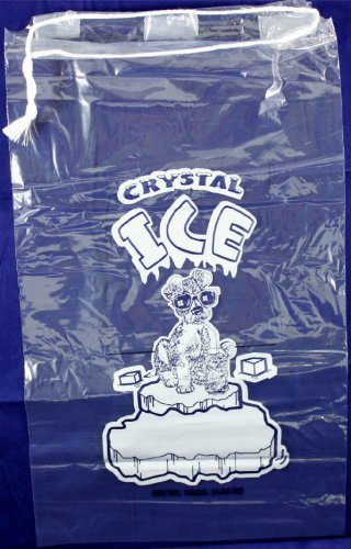 Plastic Ice Bags With Draw String Closure - Pack of 100 by Pinnacle Mercantile (Image #2)
