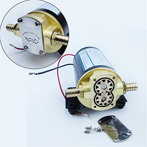 Electric Engine Oil Gear Pump White 12V Firm Diff Cooler Turbo Scavenge...