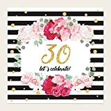 30th birthday party invitations pack of 8 white amazon co uk
