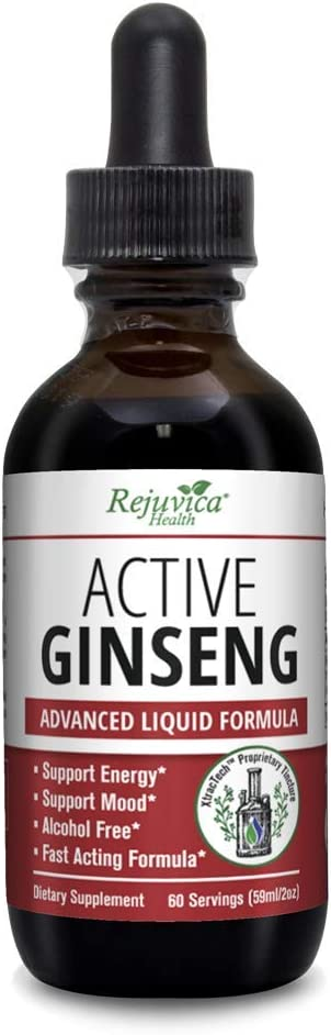 Rejuvica Health – Korean Red Panax Ginseng – All-Natural Liquid Solution for 2X Absorption – Supports Healthy Energy, Vitality, Mood and More
