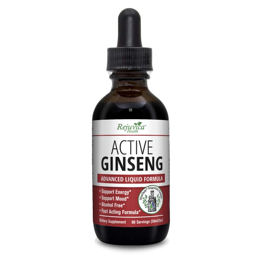 Rejuvica Health - Korean Red Panax Ginseng   All-Natural Liquid Solution for 2X Absorption   Supports Healthy Energy, Vitality, Mood & More
