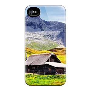 Excellent Design House In The Mountains In Autumn Phone Case For Iphone 4/4s Premium Tpu Case