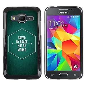 Be Good Phone Accessory // Dura Cáscara cubierta Protectora Caso Carcasa Funda de Protección para Samsung Galaxy Core Prime SM-G360 // BIBLE Saved By Grace