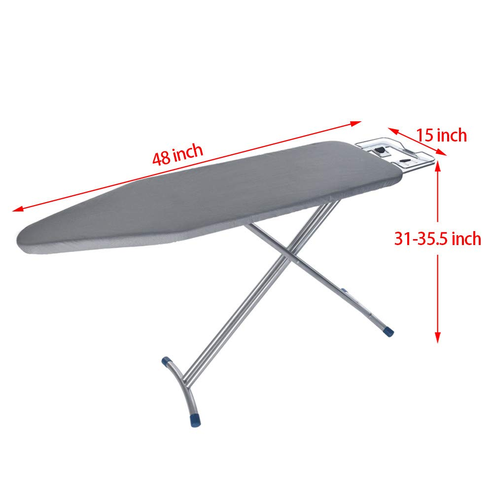 WONdere 48x15'' Home ironing Board 4 Leg Foldable Adjustable Board by WONdere (Image #8)