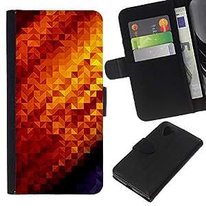 WINCASE Cuadro Funda Voltear Cuero Ranura Tarjetas TPU Carcasas Protectora Cover Case Para LG Nexus 5 D820 D821 - sol de oro amarillo el bling caliente