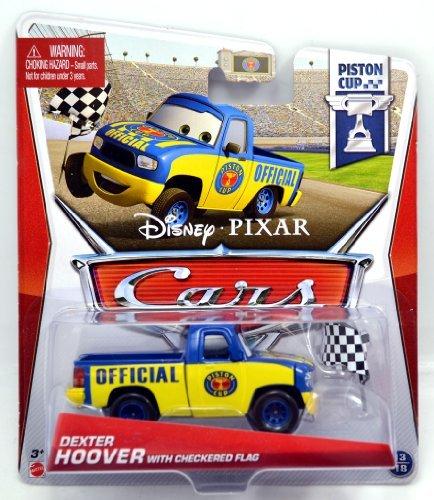 MATTEL Disney-PIXAR CARS PISTON CUP DEXTER HOOVER WITH CHECKERED FLAG Mattel