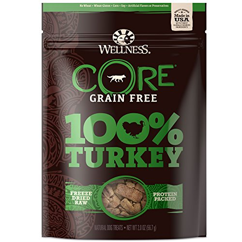 (Wellness Natural Pet Food Core Grain Free 100-Percent Turkey Freeze Dried Dog Treats, 2 Oz)