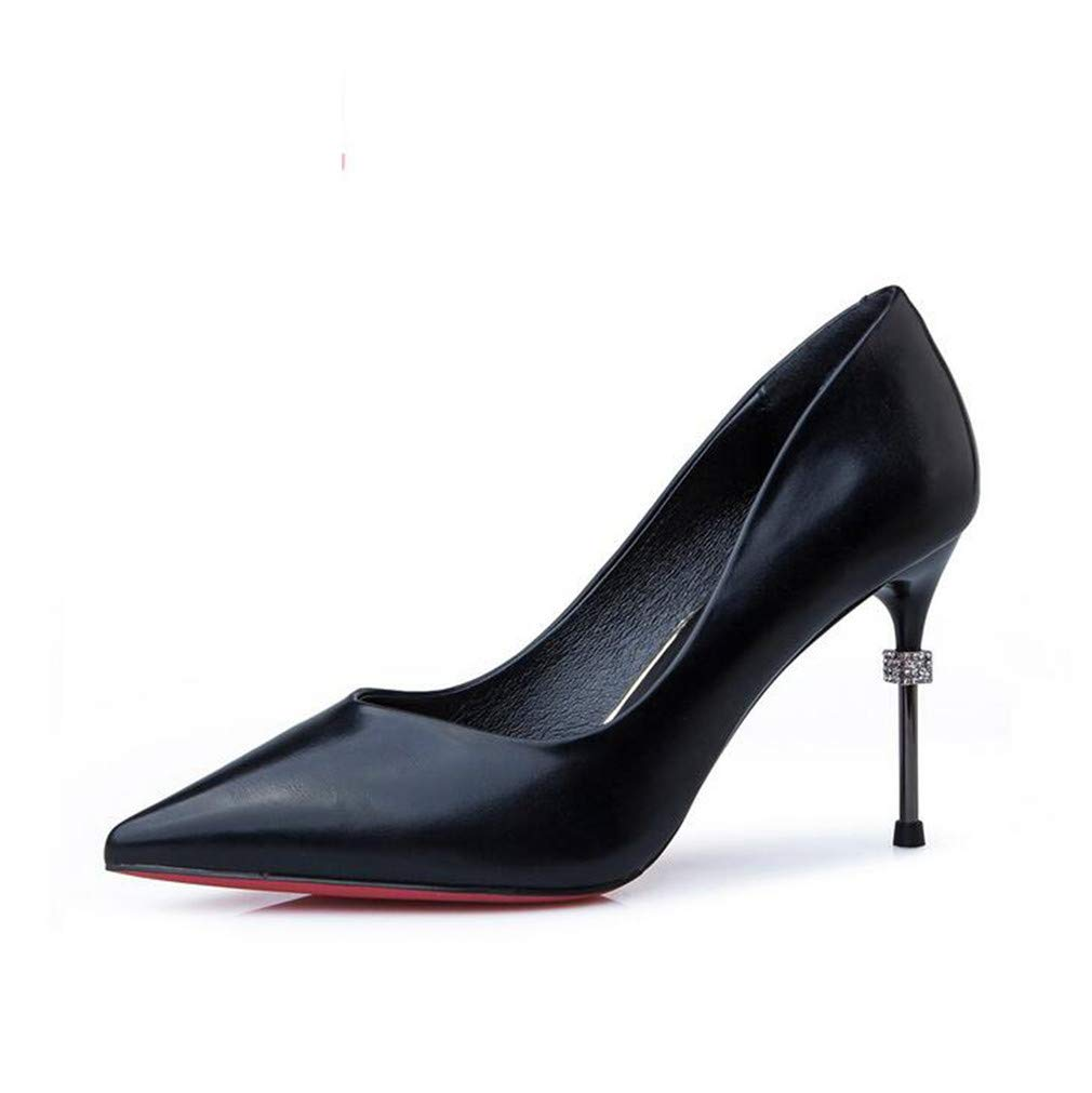 schwarz DROHE-Q Frauen High Heels, Gericht Schuhe Schuhe Stiletto wies Schuhe Geschlossene Zehe Sexy Pumps Prom Party Hochzeit - Schwarz, Khaki  bekannte Marke