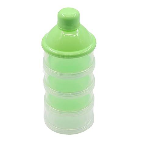 Dispensador de leche en polvo de 4 capas para niños y bebés, dispensador de leche