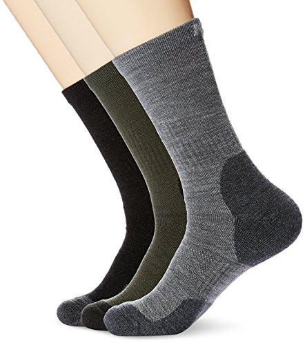 Kold Feet Men's Performance 3 Pairs Crew Socks For Hiking,Trekking,Large (Fashion Feet)