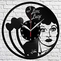 I Love Lucy Vinyl Record Wall Clock Decor Home Original Gift Unique Design Handmade art