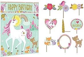 Amazon.com: Un unicornio mágico Escena Setter + 12 Prop ...