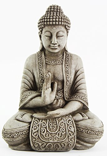Meditating Sitting Buddha Garden Statue Outdoor Concrete Asian Statue Chinese Sculpture Japanese Cast Stone Yoga Studio Figurine