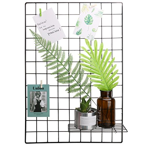 Frame Black Panel - Hosal Black Metal Grid Panel, Wall Sculptures Photo Craft Display Panel,Sculptural Frames & Holders Wall Decoration & Organization,2 Pcs/Set,Size:25.6