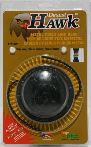 Desert Hawk Head, Metal Fixed Line Head Fits most Petrol Strimmers/Trimmers/Brushcutters