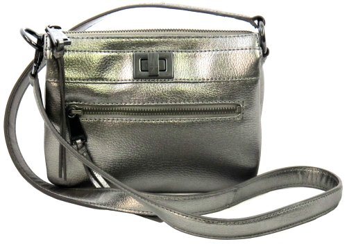 Calvin Klein Triple Compartment Crossbody in Pewter