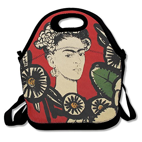 Terra Cotta Fabric Handbags - IEIDJFF Fabric Frida Cactus Flower Terracotta Red Alexander Henry Cooler Bag Custom Generous For Adult