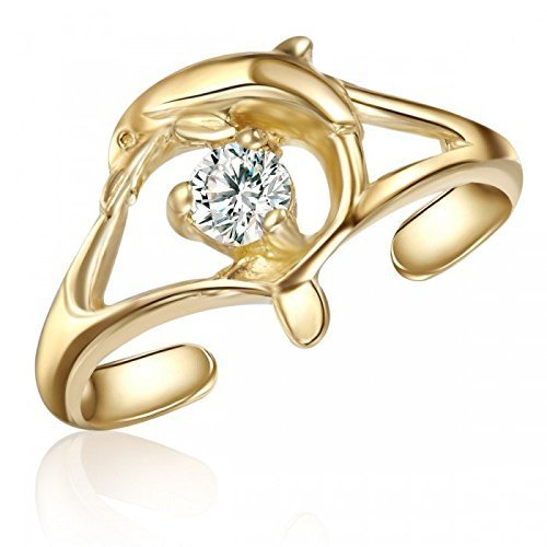 10k-yellow-gold-dolphin-toe-ring-with-stone-swimming-dolphin-toe-ring-with-stone-fashionable-dolphin