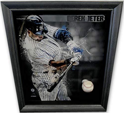 Derek Jeter Hand Signed Autographed Game Used 2014 MLB Baseball Framed - Steiner Sports Certified - MLB Game Used Baseballs
