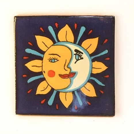 Azulejos Mexicanos Artesanales de Talavera de 10.5cm - Azulejo individual Tumia LAC T12860-8