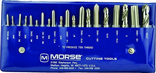 Morse Cutting Tools 37103 Tap and Drill Set, NC Series, High Speed Steel, #103 Number by Morse Cutting Tools