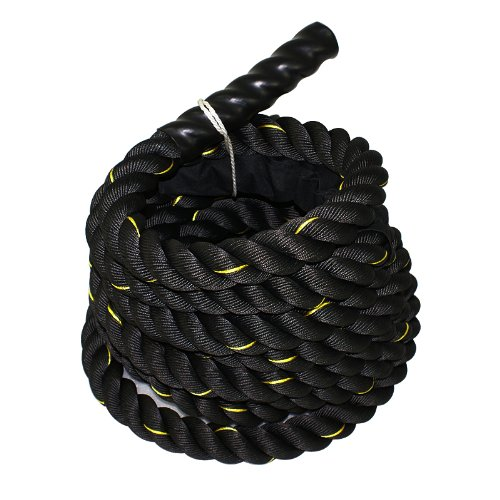 Zeny Black 1 5  Width Poly Dacron 40Ft Length Battle Rope Workout Training Undulation Rope Fitness Rope Exercise