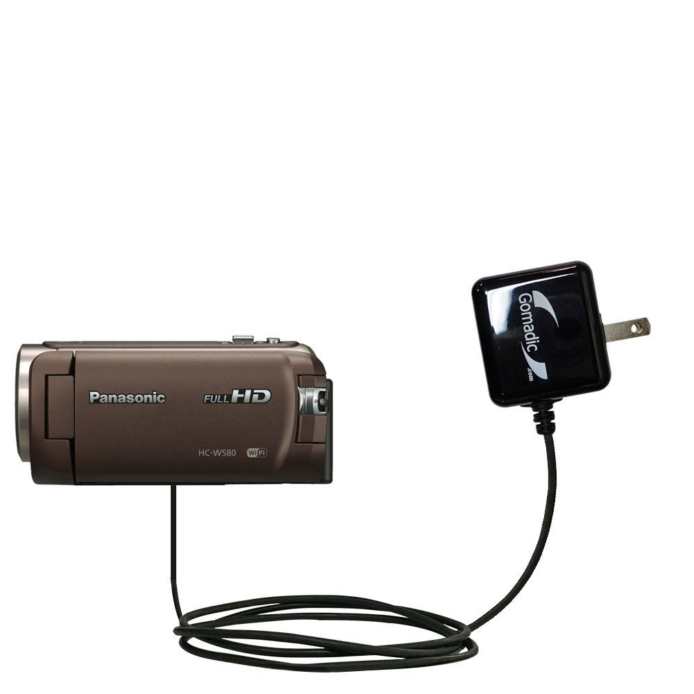 Gomadic高出力ホーム壁AC充電器Designed for the Panasonic hc-w580 with電源スリープテクノロジー – インテリジェントDesigned With Gomadic B01GEV179G