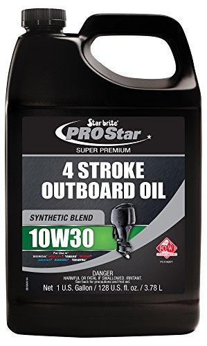 Star Brite 10W 30 Pro Super Premium Synthetic Blend 4 Stroke Outboard Oil (1-Gallon)